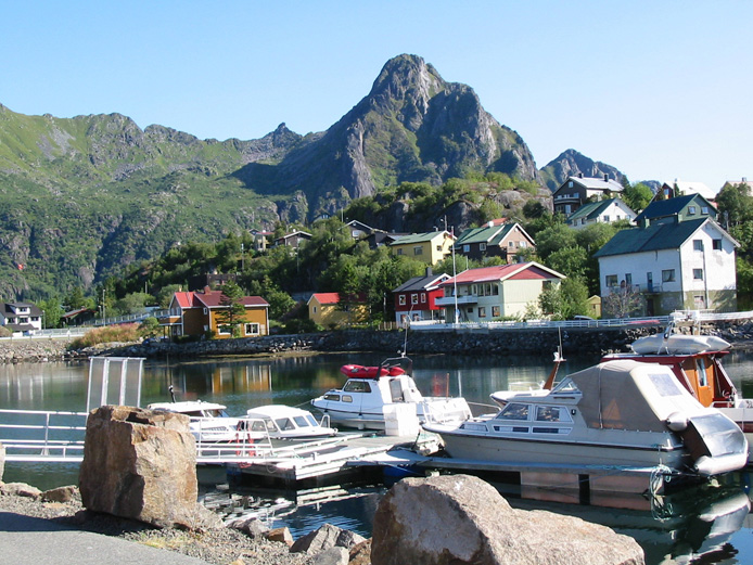Lofoten is an archipelago and a traditional district in the county of Nordland. Though lying within the Arctic Circle,# the archipelago experiences one of the world's largest elevated temperature anomalies relative to its high latitude. The famous Stockfish is imported from Lofoten.