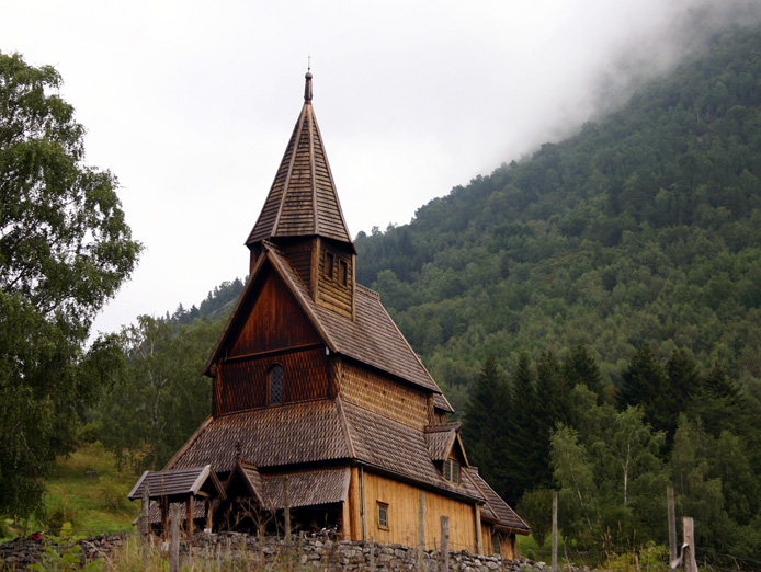 Urnes Stave Church is the oldest stav church. It's situated at the Ornes farm, along the Lustrafjord. In 1979 it was listed as a World Heritage Site by UNESCO.