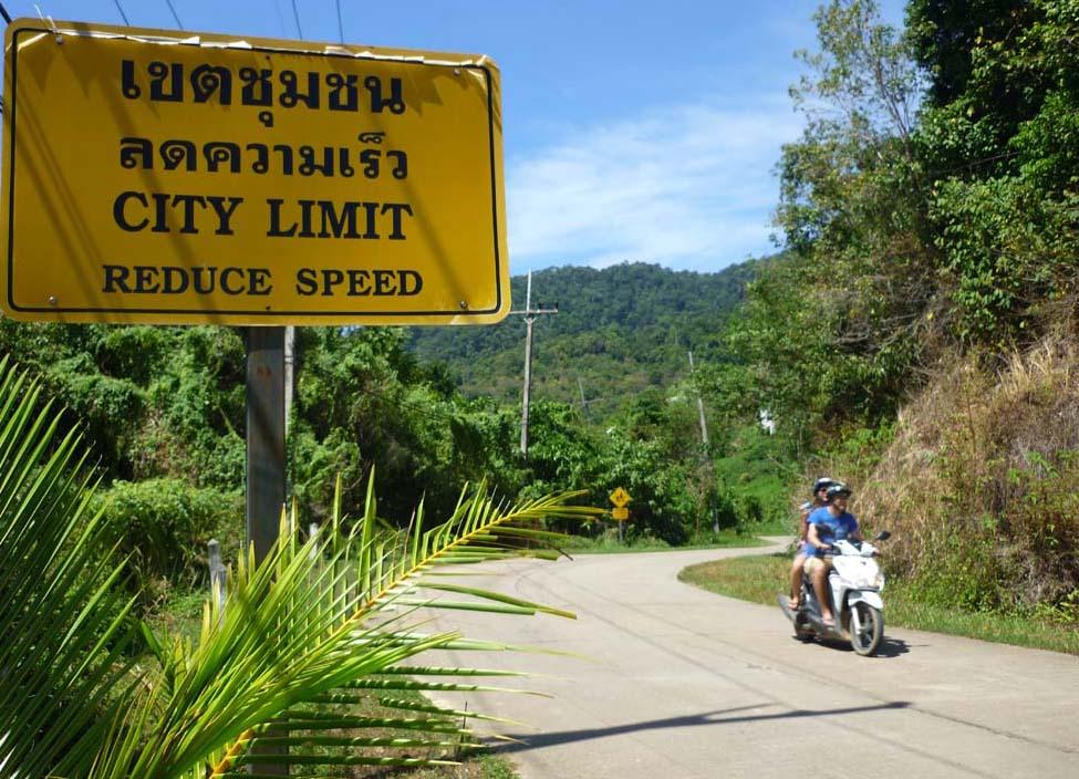 Verkehrssschild Koh Lanta