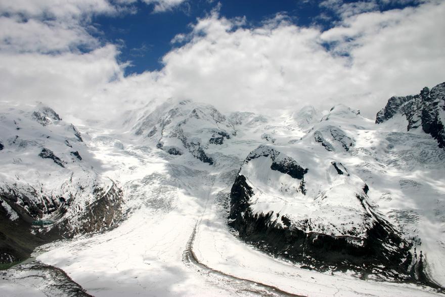 Die Fahrt zum Gornergrat in 3.100 m Höhe (hin und zurück) schlägt mit 84 CHF zu Buche.