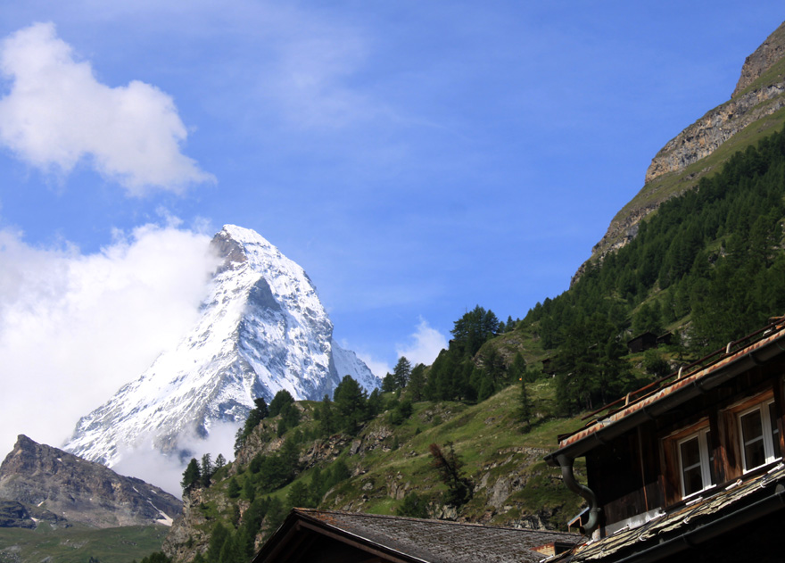 Das Matterhorn - der  wohl meistfotografierte Berg der Welt.
