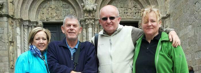 Am Ziel - vor der Kathedrale in Santiago de Compostela.