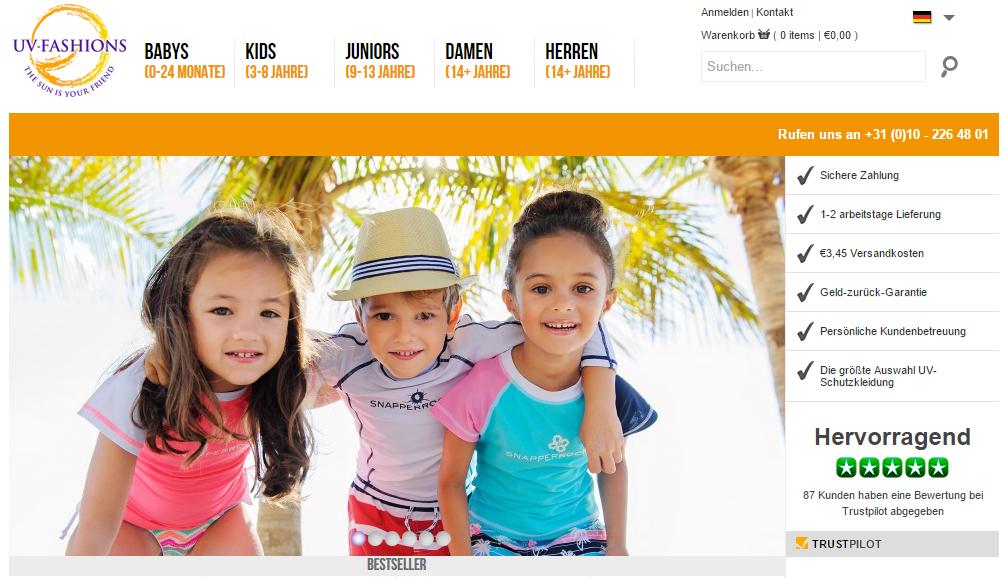 UV-Fashions ist der größte Online-Shop für Kleidung mit UV-Schutz und Bademode für alle Altersklassen. Mehr über das Unternehmen.