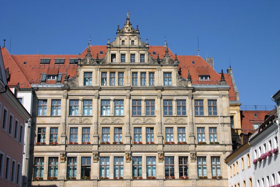 Das Neue Rathaus am Untermarkt in Görlitz.