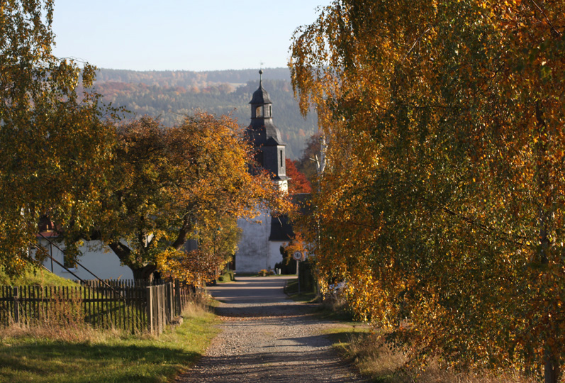 Den Herbst genieße ich am liebsten vor der  Haustür in Thüringen.