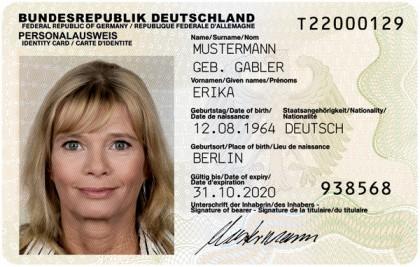 Dass der Ausweis sicher ist, obliegt nicht zuletzt auch dem Inhaber! Muster des Personalausweises (Gemeinfrei - Wikimedia Commons)