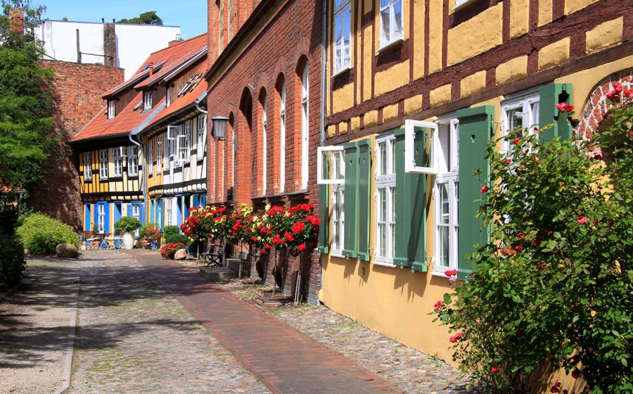 Deutschland: 1. Deutschland, 2. Spanien, 3. Italien. Foto: Altstadt von Stralsund