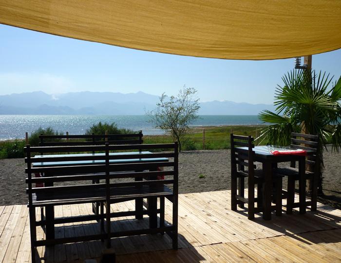 Campingplatz am Skutari-See in Albanien