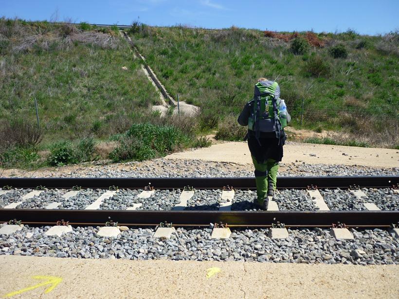 Bahngleise auf der Via de la Plata