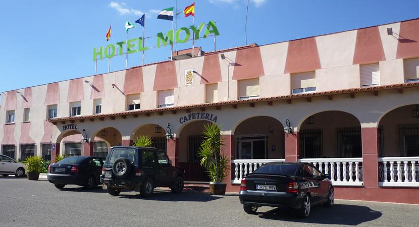 """Ein solches Angebot wie im """"Hotel Moya"""" in Monesterio kann man nicht ausschlagen: Dz mit Frühstück und abendlichem Pilger_Menü für 50 Euro!"""
