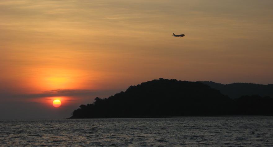 Langkawi Cenang Beach Sonnenuntergang