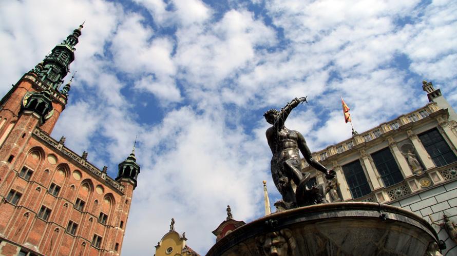 Rathaus und Artushof in Danzig