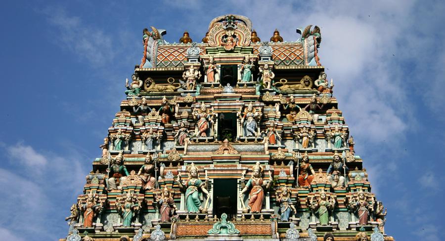 Der Hindu-Tempel Sri Mahamariaman ist eiens der meistfotografierten Gebäude in Kuala Lumpur.