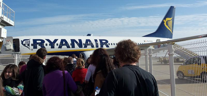 Ryanair Abflug Faro