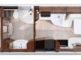 MORELO EMPIRE LINER – vorläufiger Grundriss auf dem Caravan Salon Düsseldorf 2016